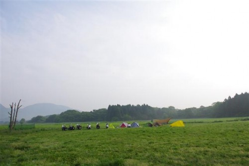 ハートランド朝霧でキャンプツー