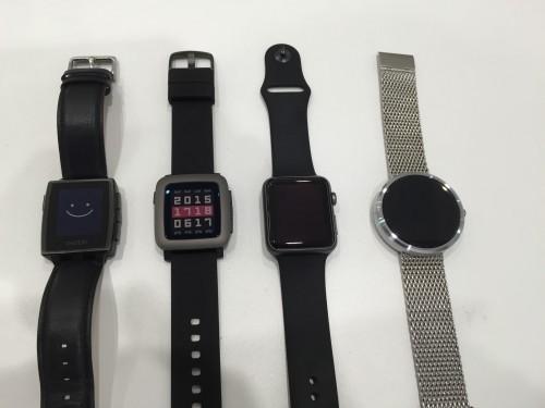 Pebble Time とApple Watch を使ってみた感想など